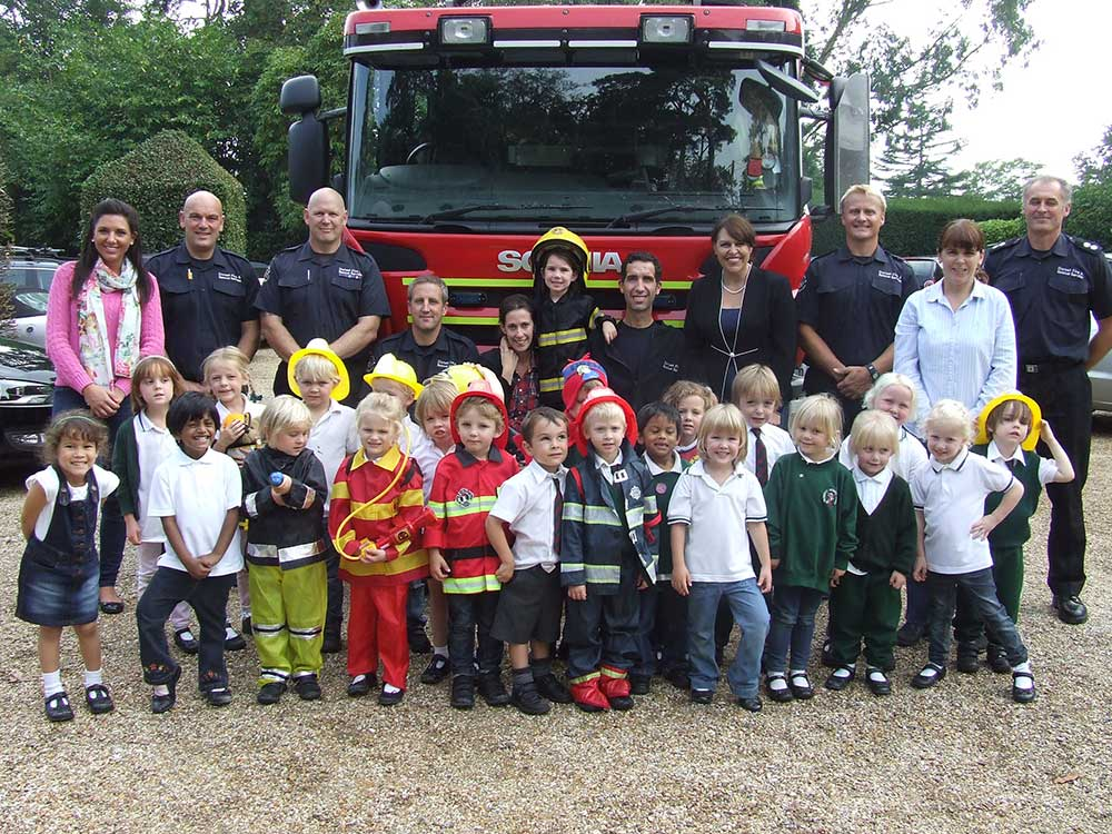 Reception's visit from Dorset Fire & Rescue Service