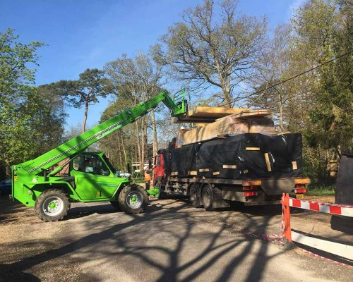 New Early Years Classroom Block – Wooden Frame Arrives On Site