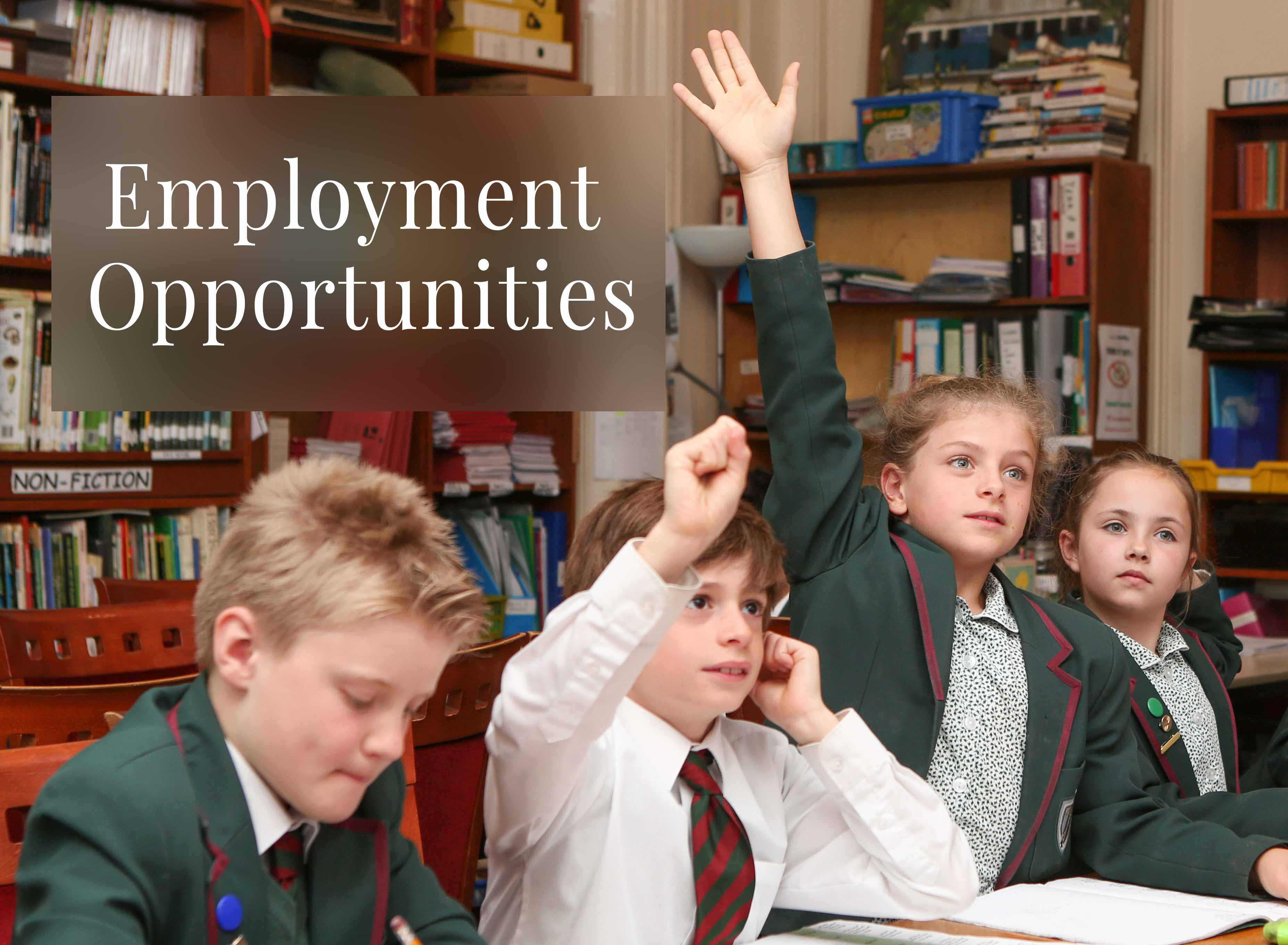 We Have New Employment Opportunities At Yarrells School