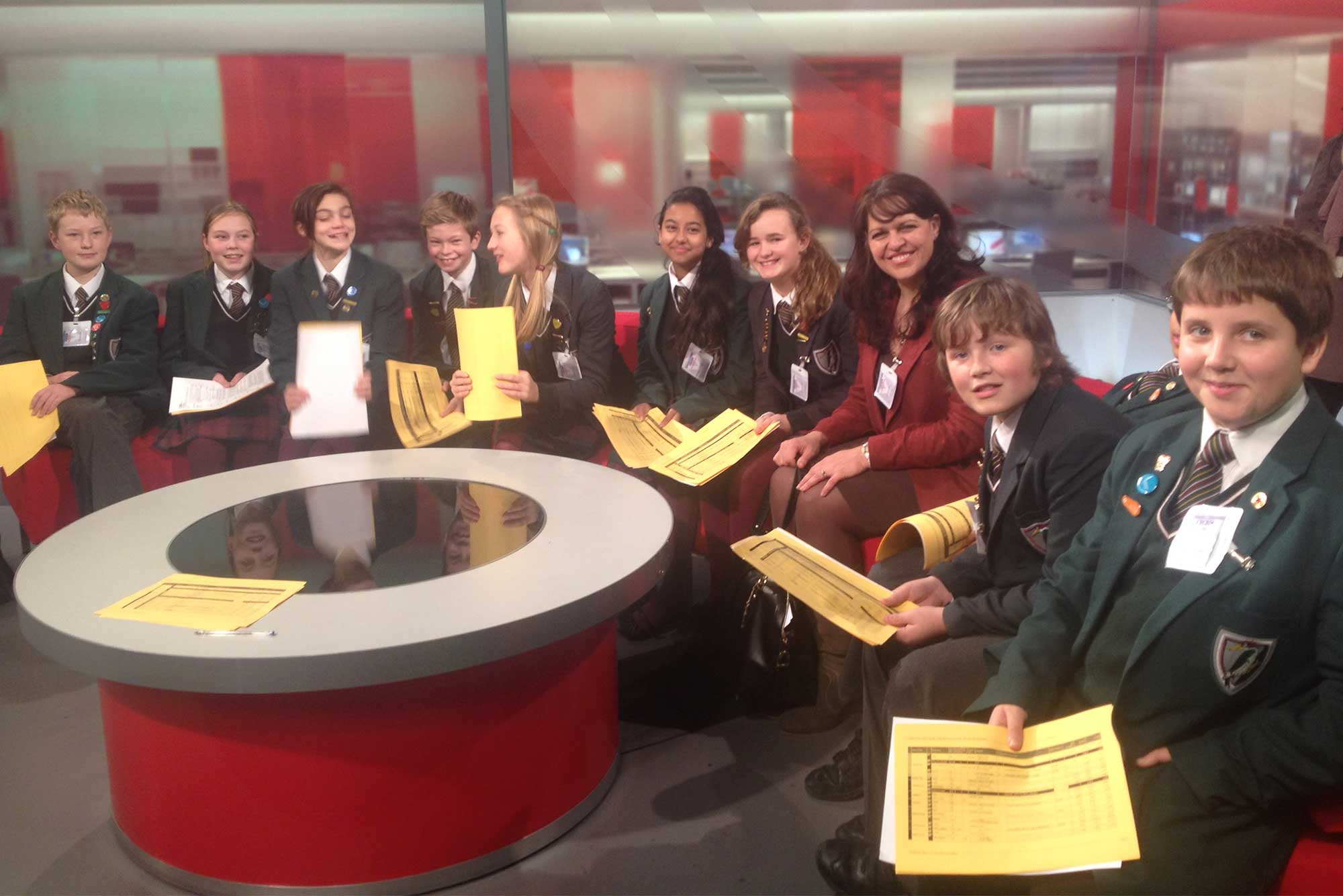 Yarrells School Trips - BBC newsroom