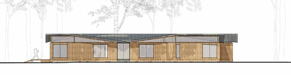 Yarrells Early Years New Build East Elevation - ECA Architects Plans