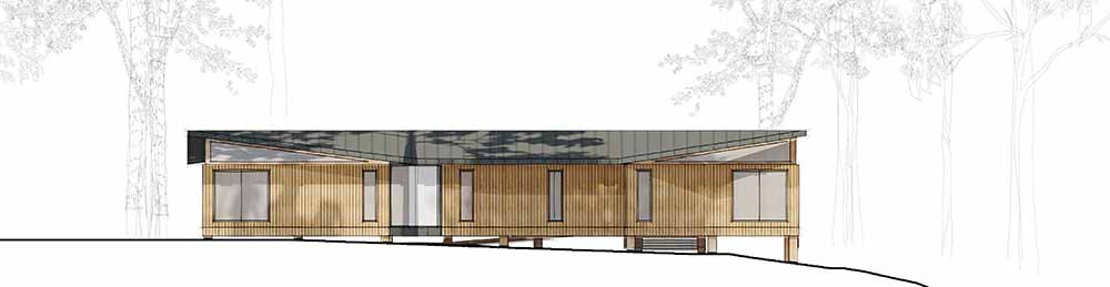 Yarrells Early Years New Build North Elevation - ECA Architects Plans