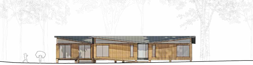 Yarrells Early Years New Build South Elevation - ECA Architects Plans