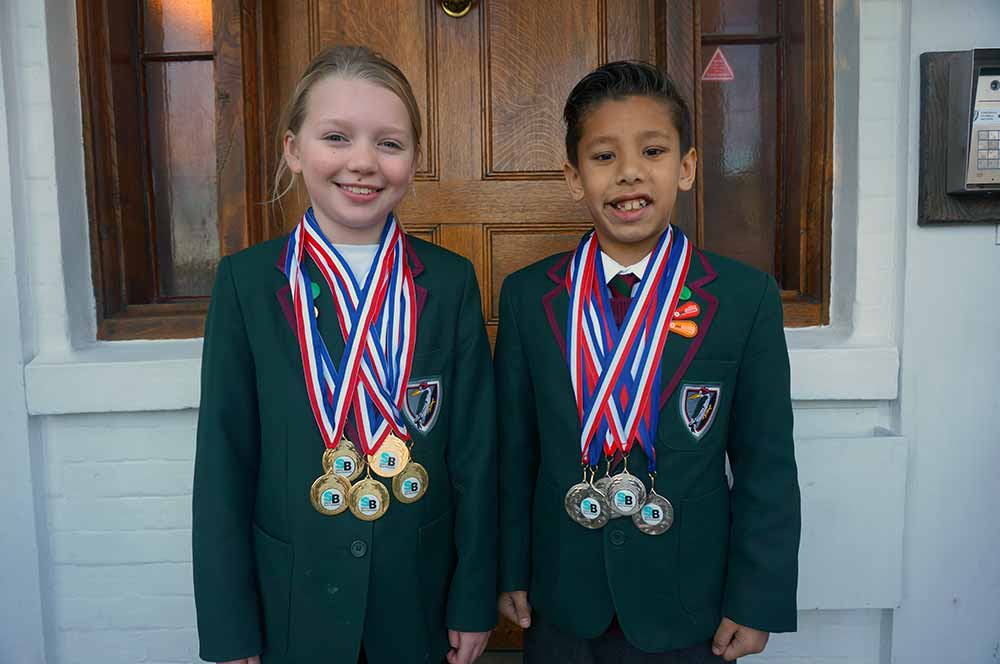 Yarrells School Bournemouth swim Club Winners
