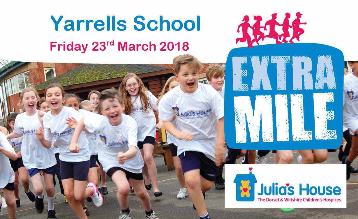 Yarrells School Running The EXTRA MILE For Julia's House