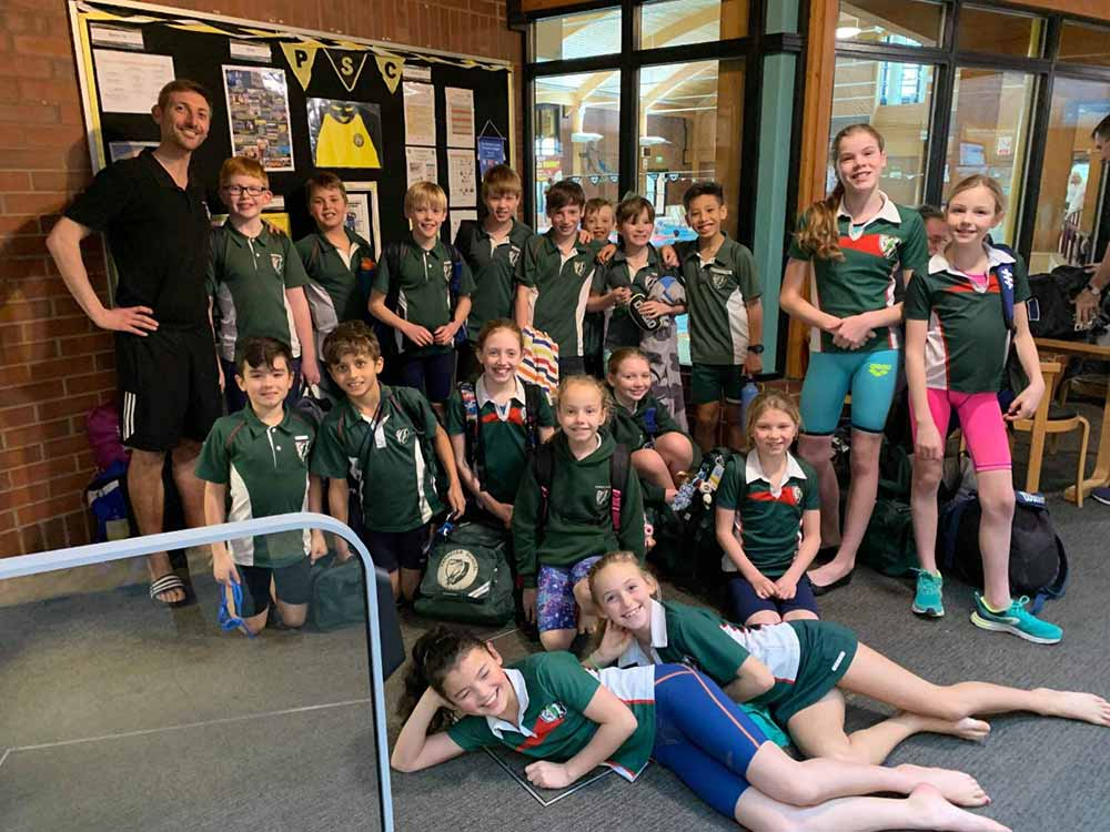 Yarrells School Years 5 & 6 Swim team Dorset School Games Champions