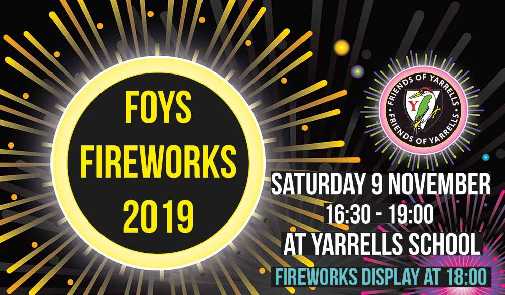 FOYS Spectacular Fireworks Evening – TICKETS ON SALE NOW
