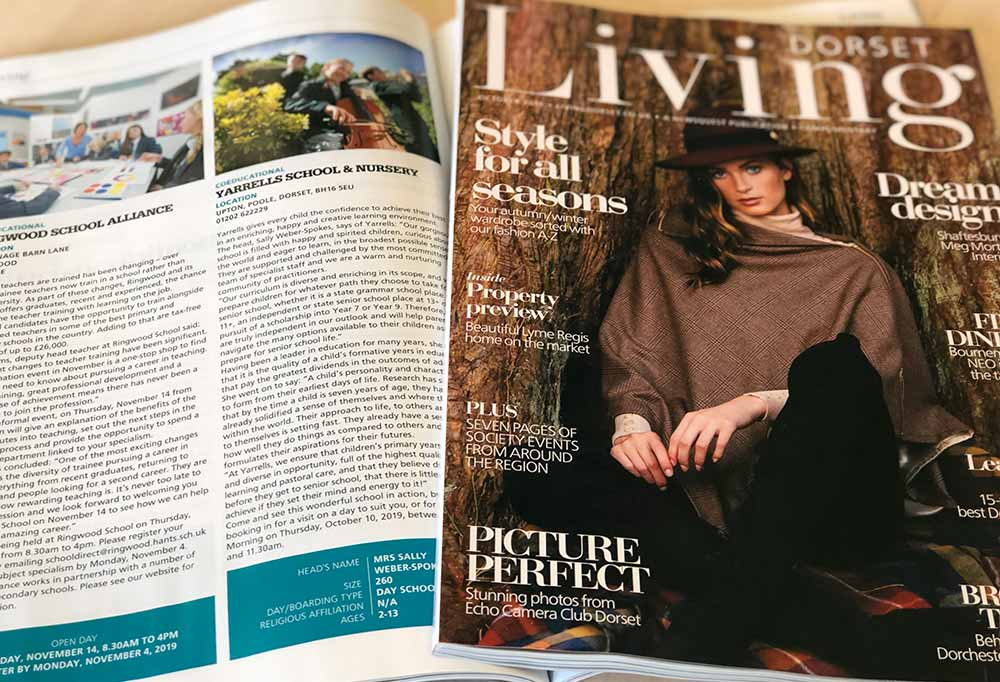 Dorset Living Magazine – Yarrells Feature In Their Education Yearbook 2019