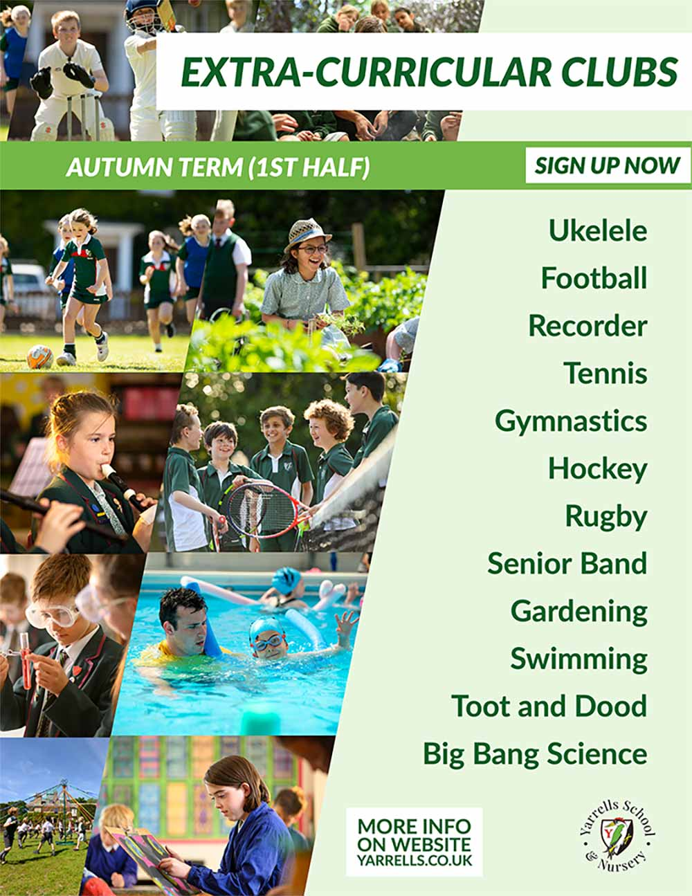 SIGN UP NOW To Our Extra Curricular Clubs